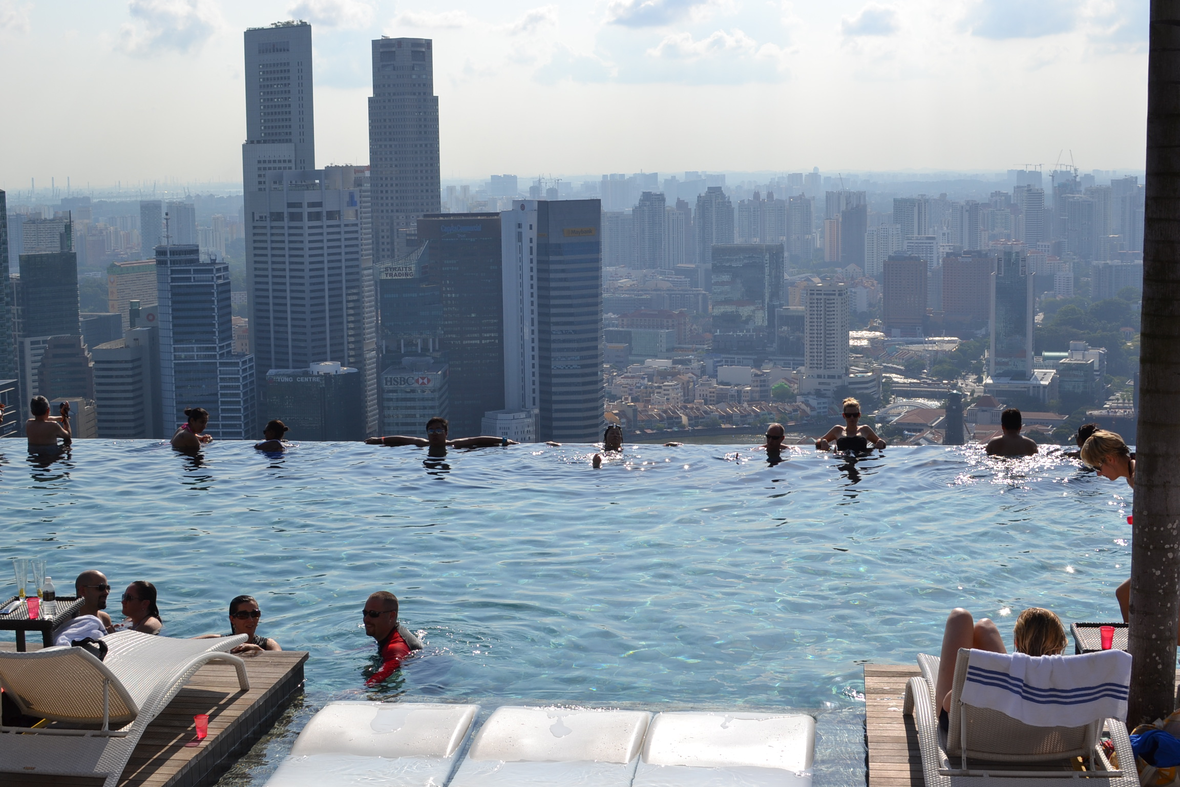 Marina bay sands skypark infinity pool escape with style - Marina bay sands resort singapore swimming pool ...